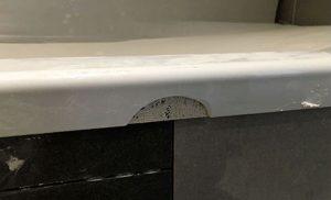 Damaged Bathtub